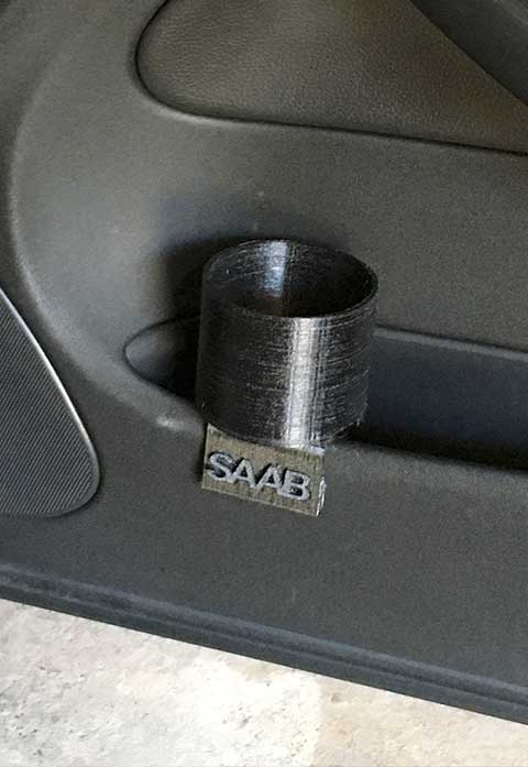 Right Door Saab 9-3 Cup holder 3D printed